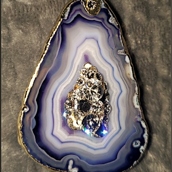 Gilded Amethyst & Crystal Geode Phone Pop Grip